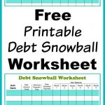 Free Printable Debt Snowball Worksheet | Living Frugally   Money   Free Printable Debt Payoff Worksheet