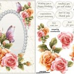 Free Printable Decoupage Card Templates   Google Search   3D   Free Printable Decoupage Flowers