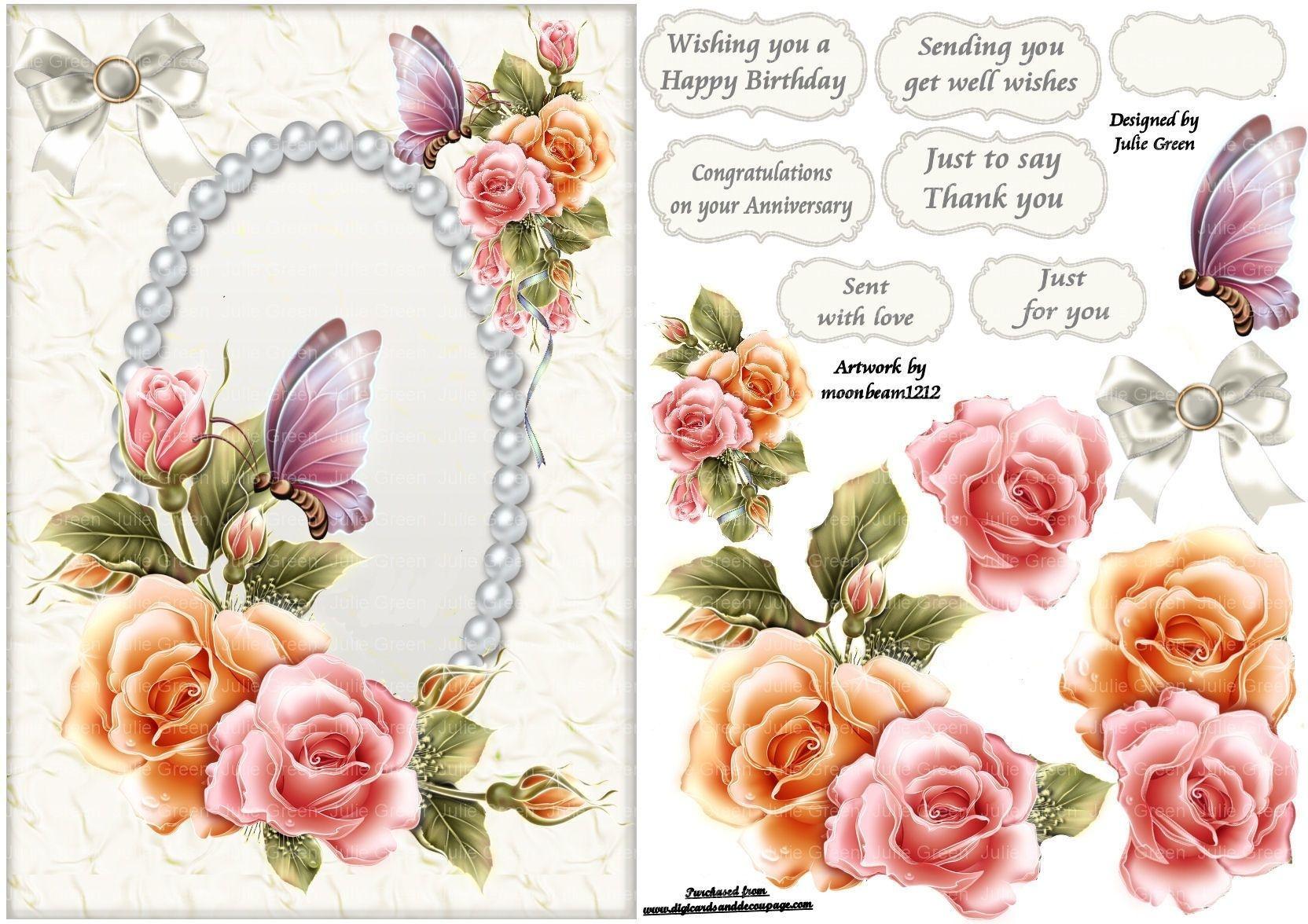 Free Printable Decoupage Card Templates - Google Search   3D - Free Printable Decoupage Flowers