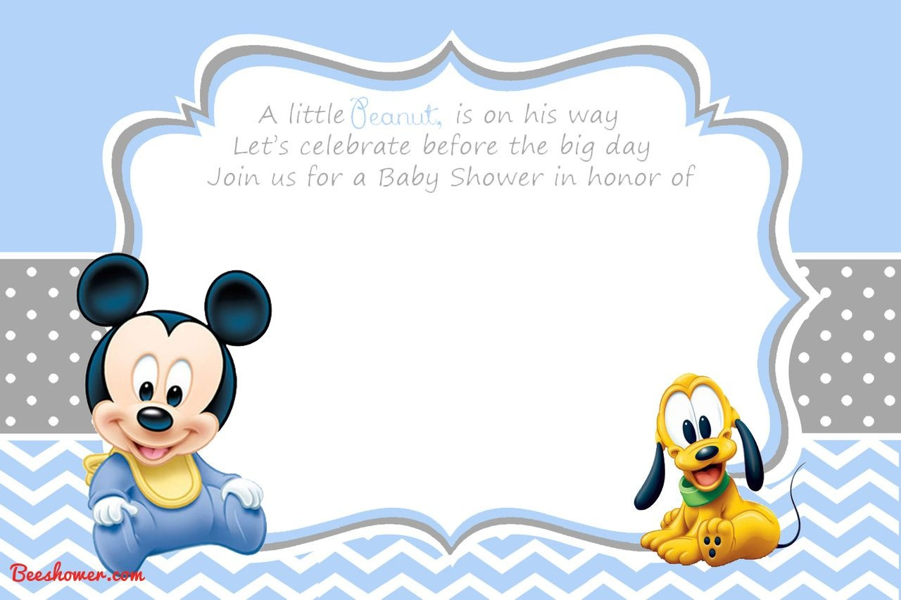 Free Printable Disney Baby Shower | Baby Shower | Mickey Mouse - Free Printable Tinkerbell Baby Shower Invitations