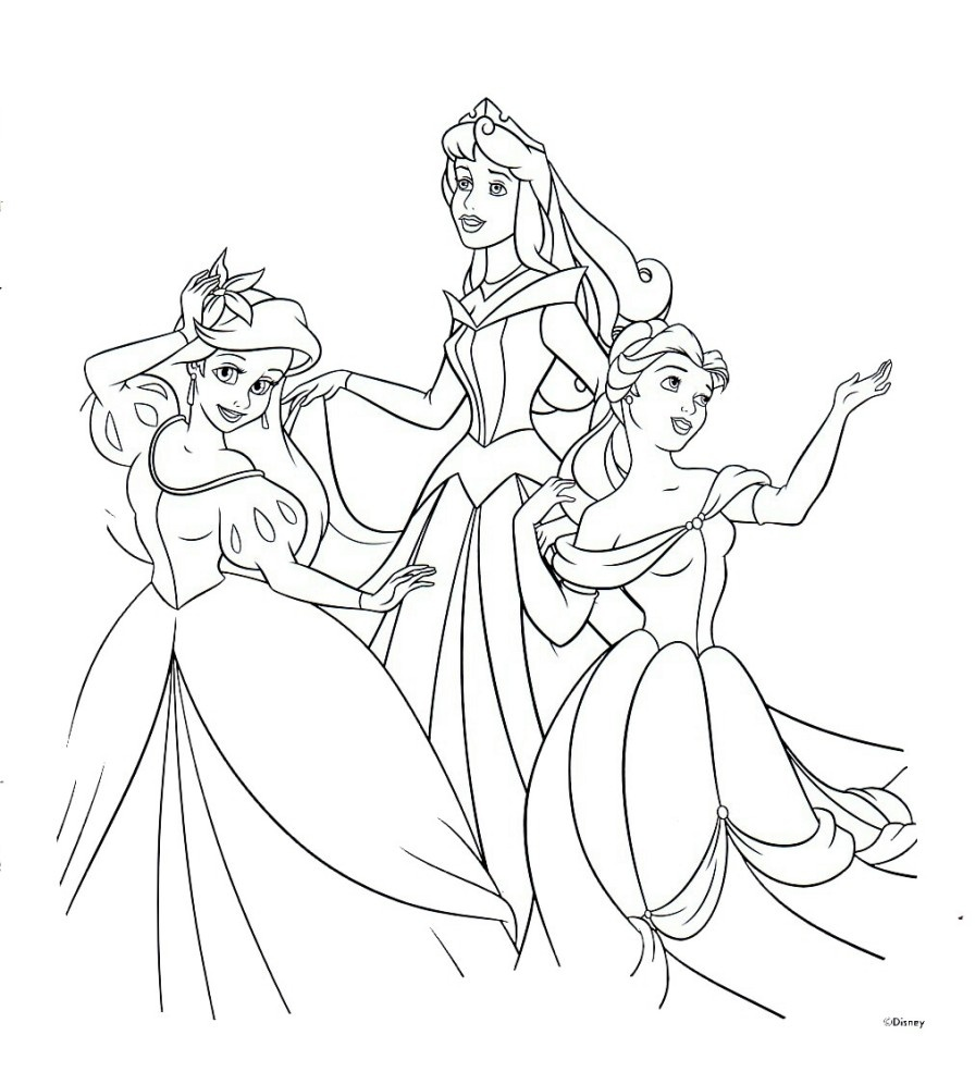 Free Printable Disney Princess Coloring Pages For Kids #299 All - Free Printable Princess Coloring Pages