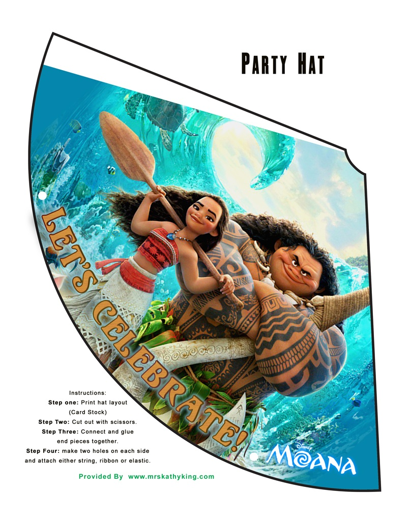 Free Printable Disney's Moana Birthday Party Decorations #moana - Free Printable Moana Banner