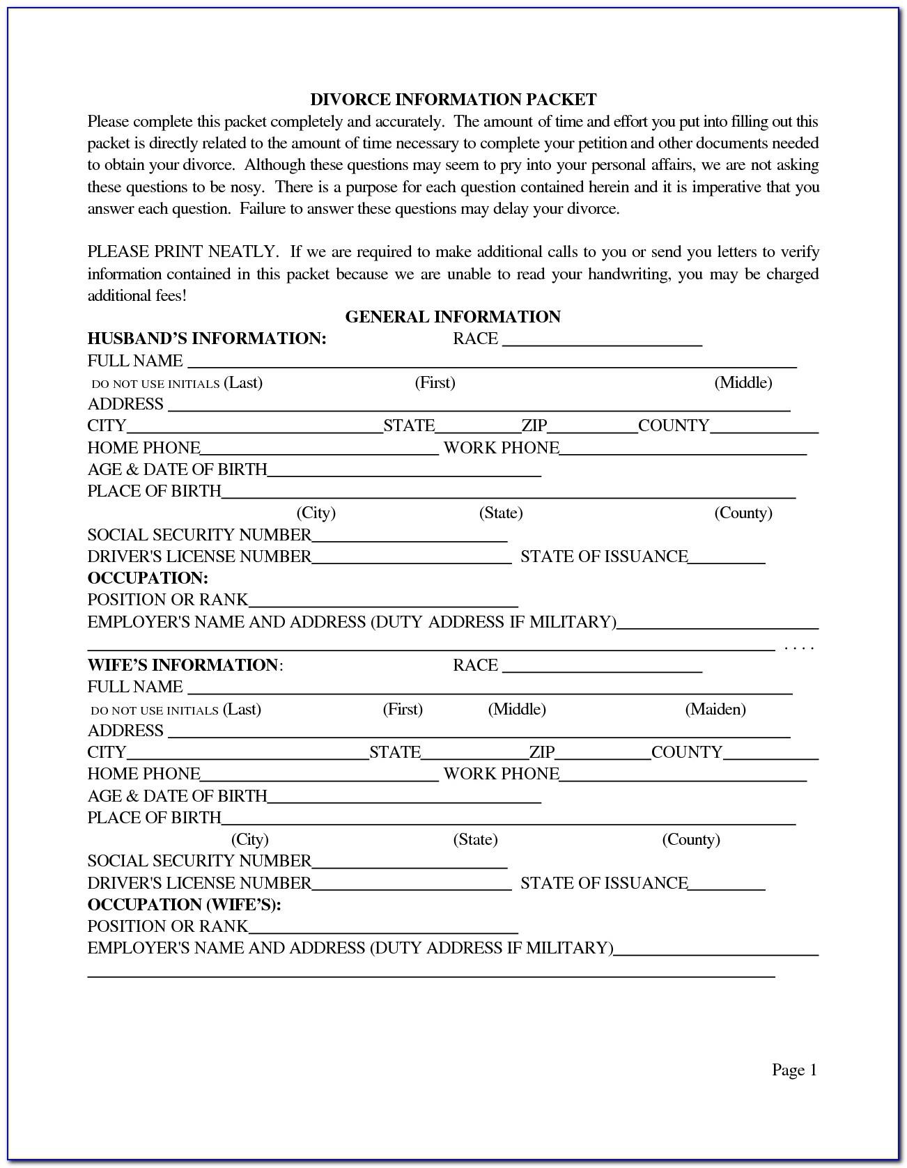 Free Printable Divorce Decree Forms - Form : Resume Examples #m9Pvv09Pob - Free Printable Divorce Decree Forms