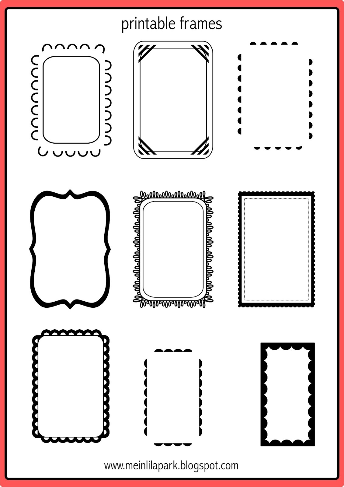 Free Printable Doodle Frames - Bullet Journal Template - Freebie - Free Printable Photo Frames