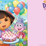Free Printable Dora The Explorer Party Invitation | Birthday   Dora Birthday Cards Free Printable