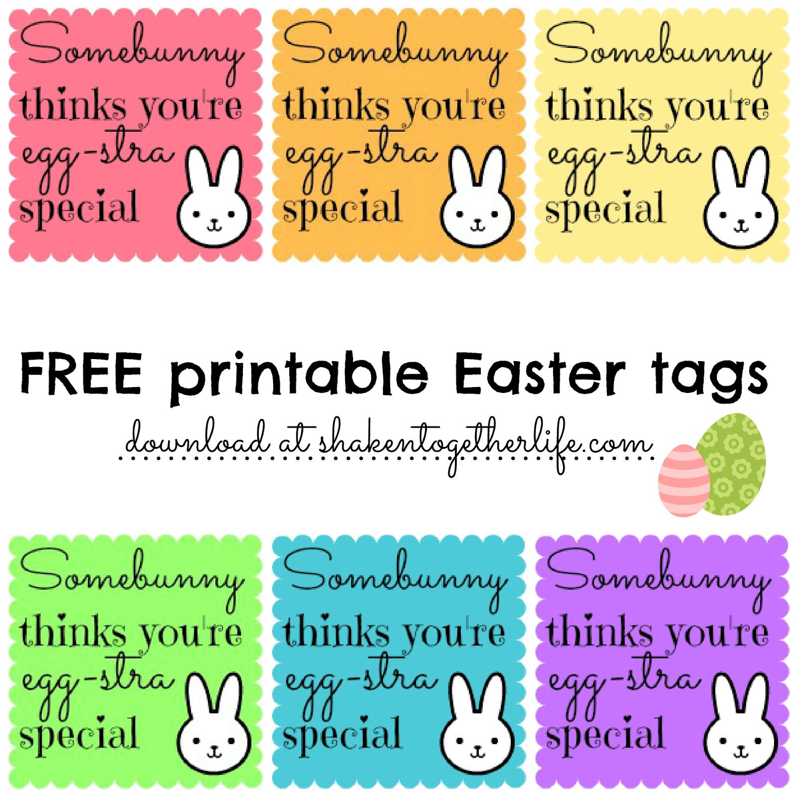 Free Printable Easter Basket Name Tags – Happy Easter & Thanksgiving - Free Printable Easter Basket Name Tags