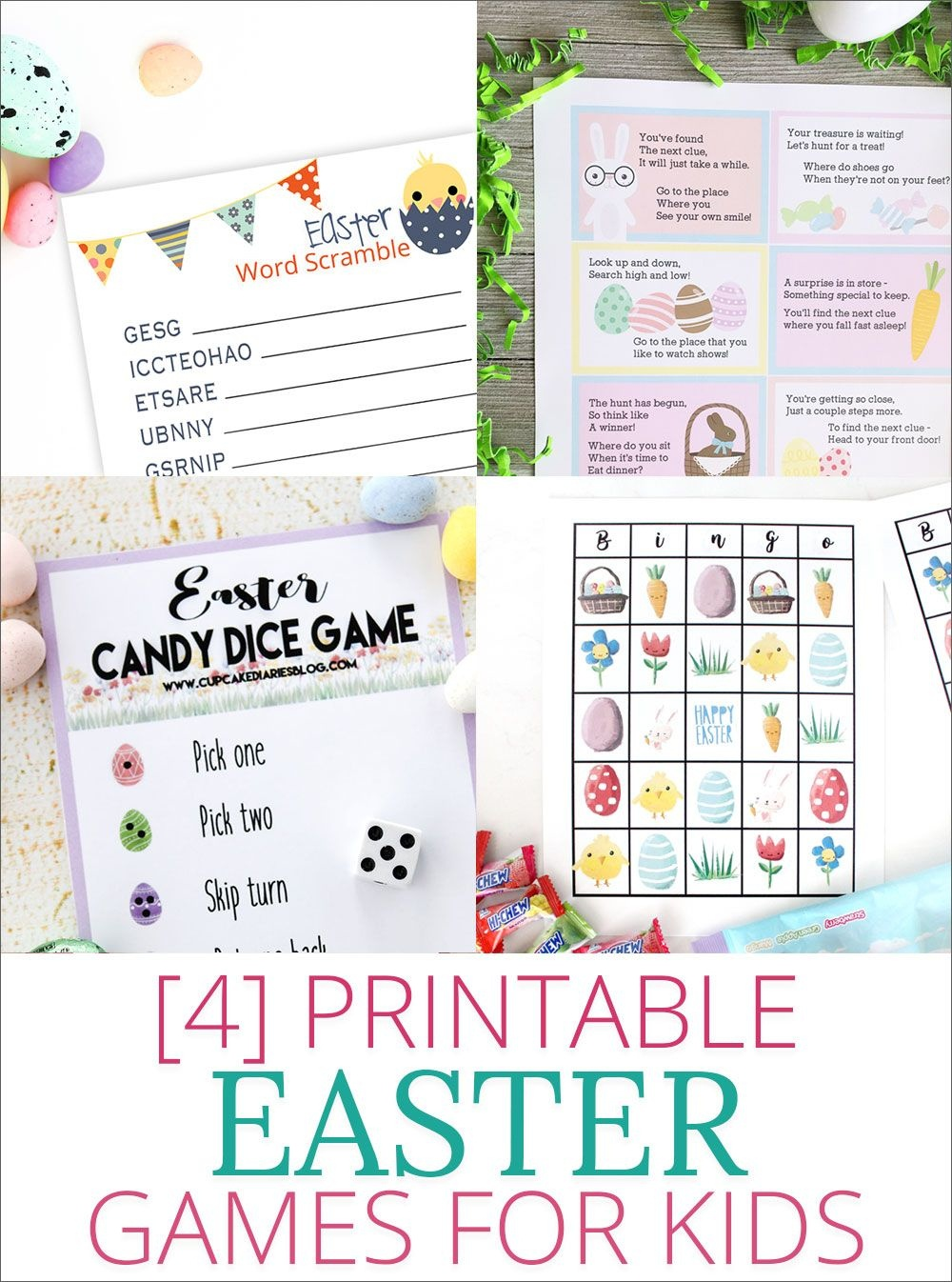 Free Printable Easter Bingo | For The Grandkiddies | Easter Games - Easter Games For Adults Printable Free