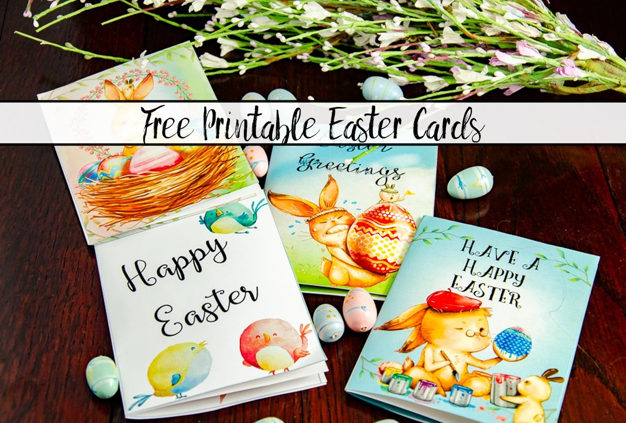 Free Printable Easter Cards: 4 Adorable Designs - Free Printable Easter Greeting Cards