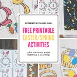 Free Printable Easter/spring Activities — Moments With Miss   Free Printable Toddler Matching Games