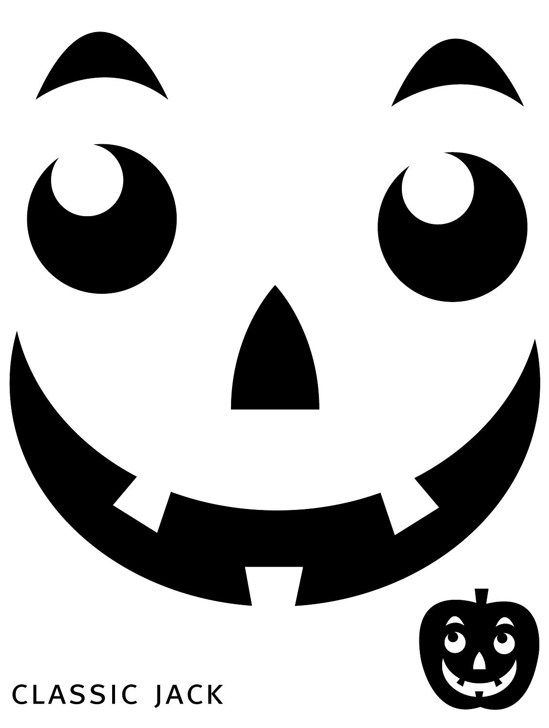 Free Printable Easy Funny Jack O Lantern Face Stencils Patterns - Pumpkin Templates Free Printable