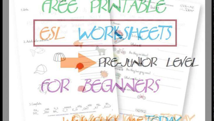 Free Printable Esl Worksheets