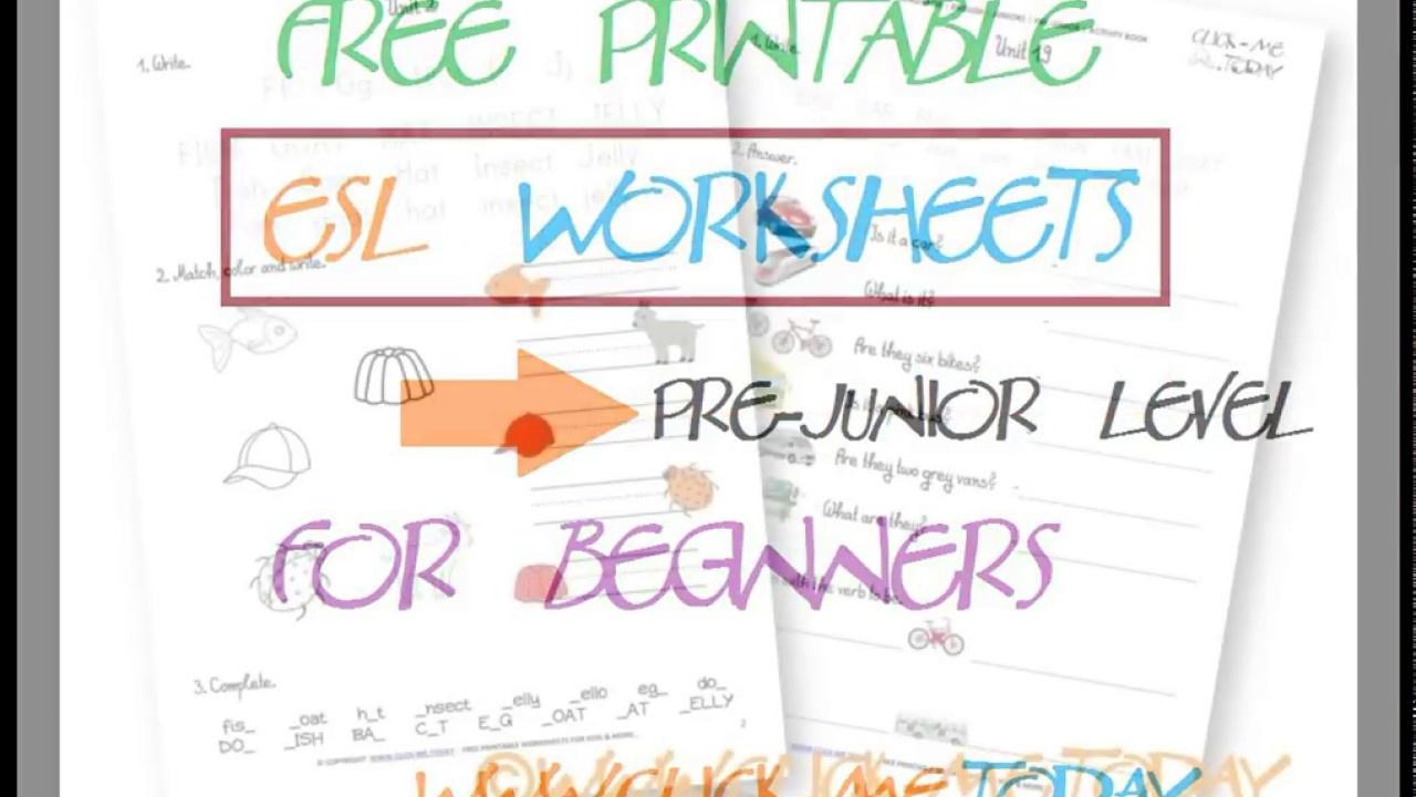 Free Printable Esl Worksheets - Youtube - Free Printable Esl Worksheets
