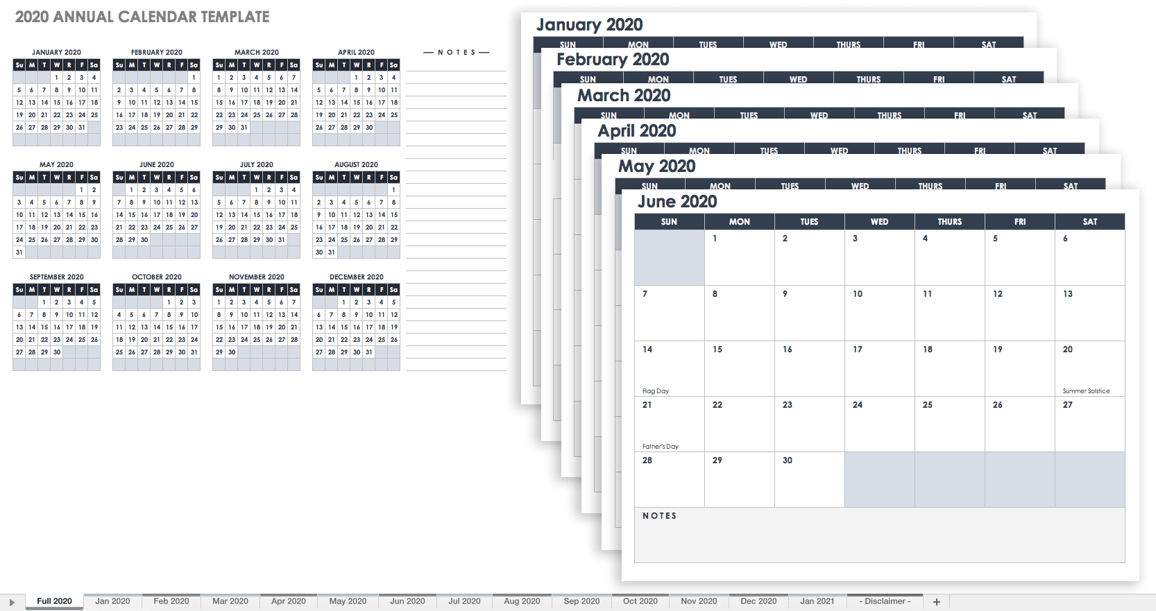 Free, Printable Excel Calendar Templates For 2019 & On | Smartsheet - Free Printable Out Of Service Sign