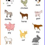 Free Printable Farm Animals Chart Keywords:toddler,preschool,kids   Free Printable Farm Animals