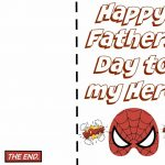 Free Printable Fathers Day Super Hero Cards. Just Print Out And Let   Free Happy Fathers Day Cards Printable
