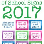 Free Printable First Day Of School Signs 2017 | Chickabug   Free Printable First Day Of School Signs 2017
