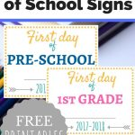 Free Printable First Day Of School Signs   Money Saving Mom® : Money   Free Printable First Day Of School Signs 2017