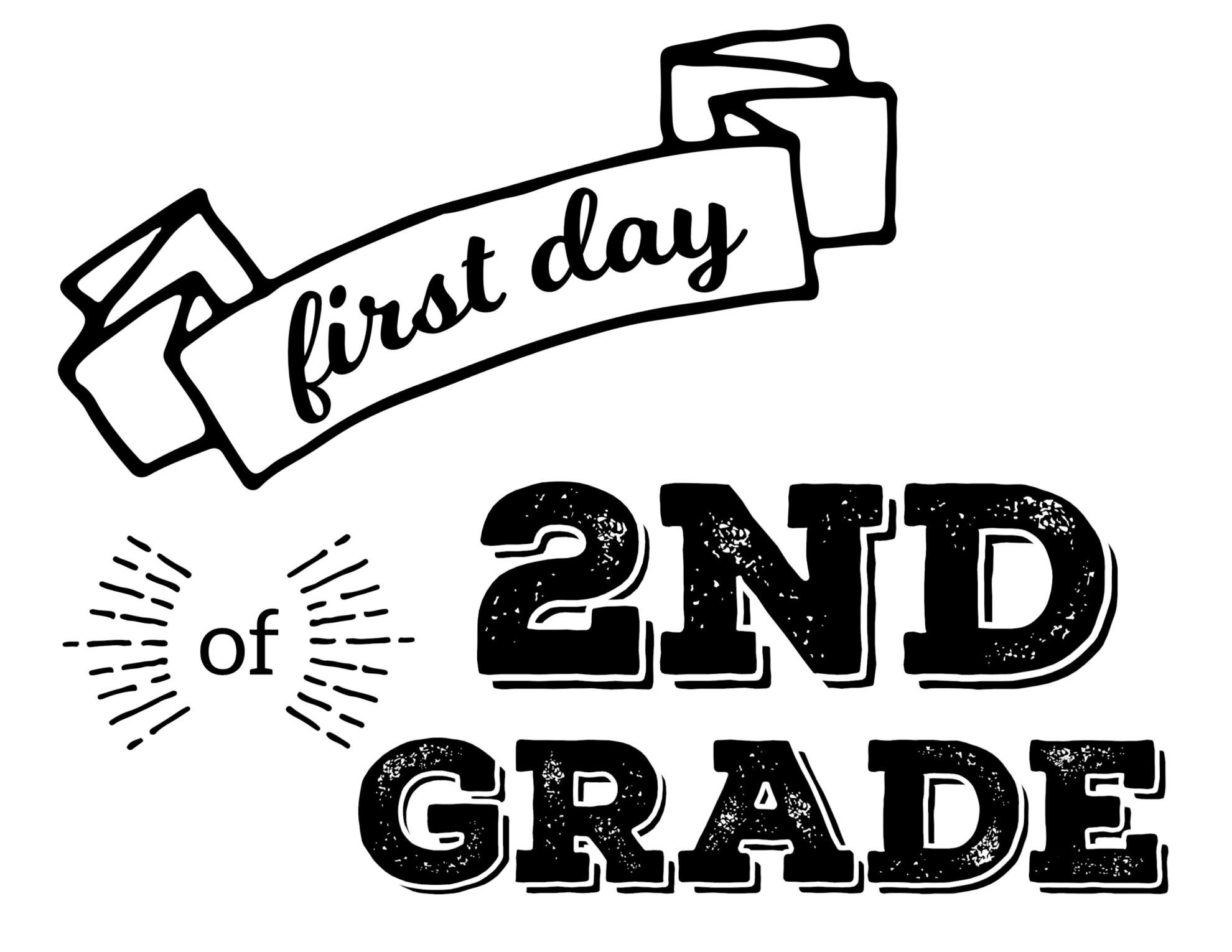 Free Printable First Day Of School Signs - Paper Trail Design - First Day Of Fourth Grade Free Printable