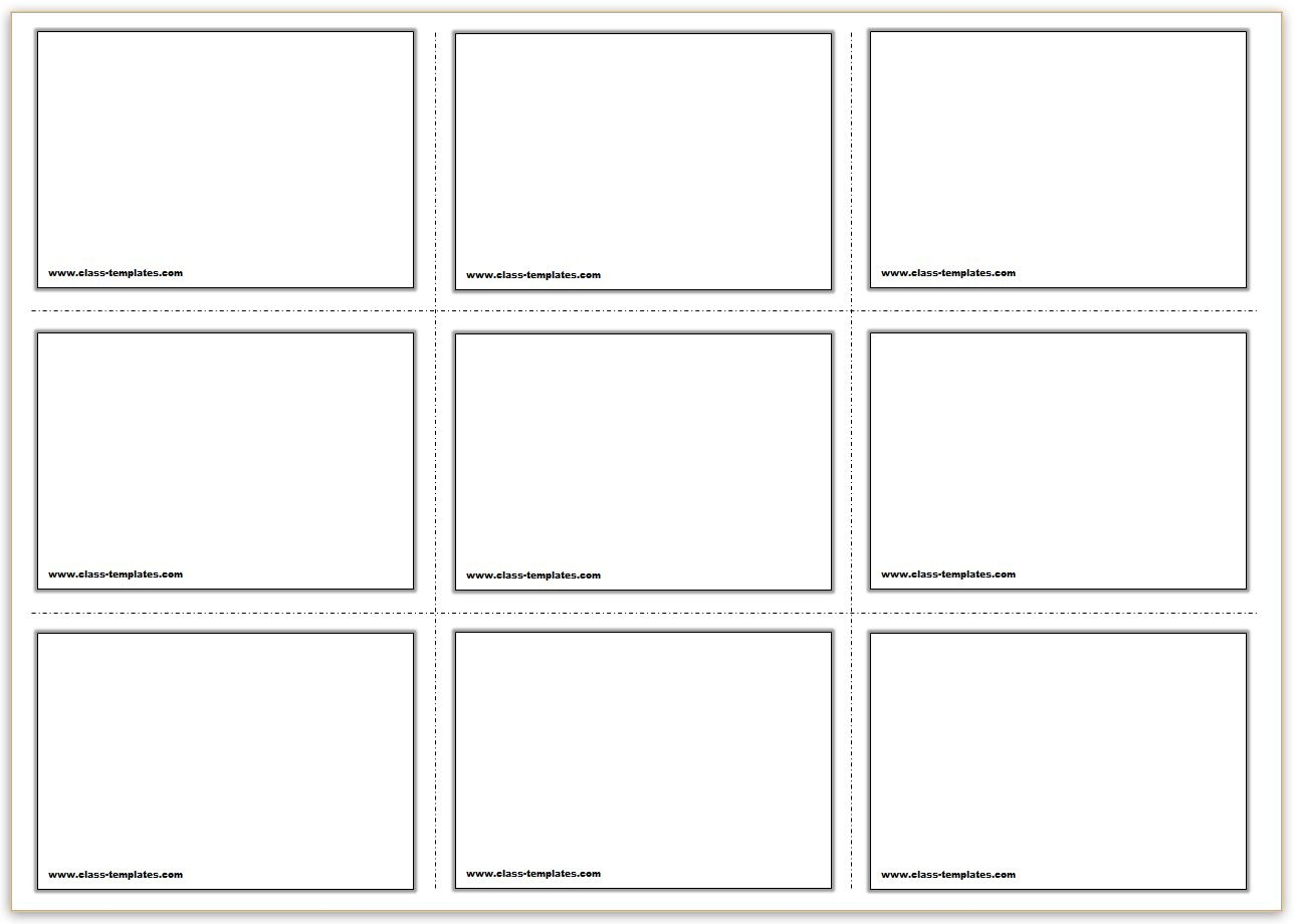 Free Printable Flash Cards Template - Free Printable Blank Index Cards