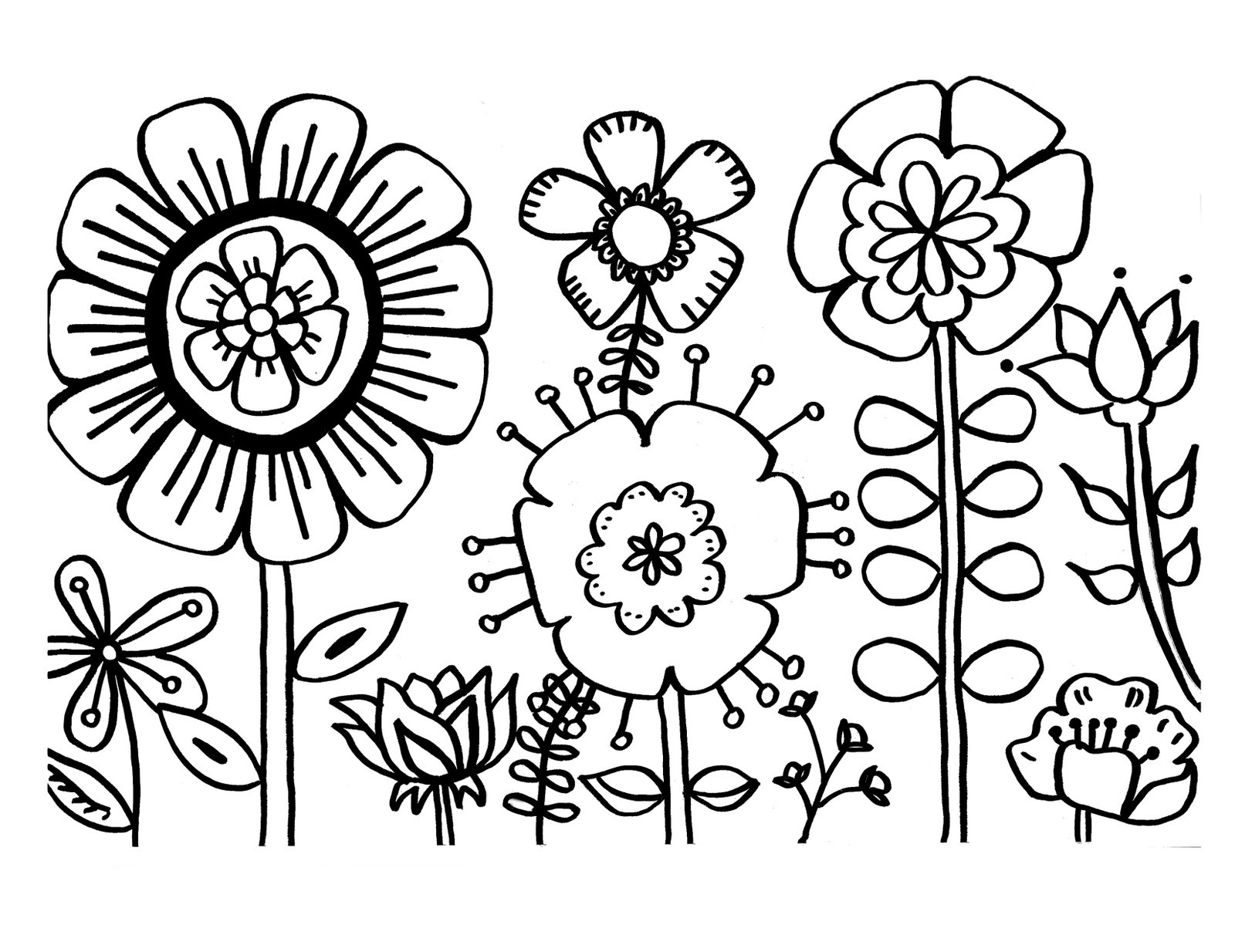 Free Printable Flower Coloring Pages For Kids - Best Coloring Pages - Free Printable Flower Coloring Pages For Adults
