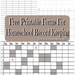 Free Printable Forms For Homeschool Record Keeping | My Blog Posts   Free Printable Parenting Plan