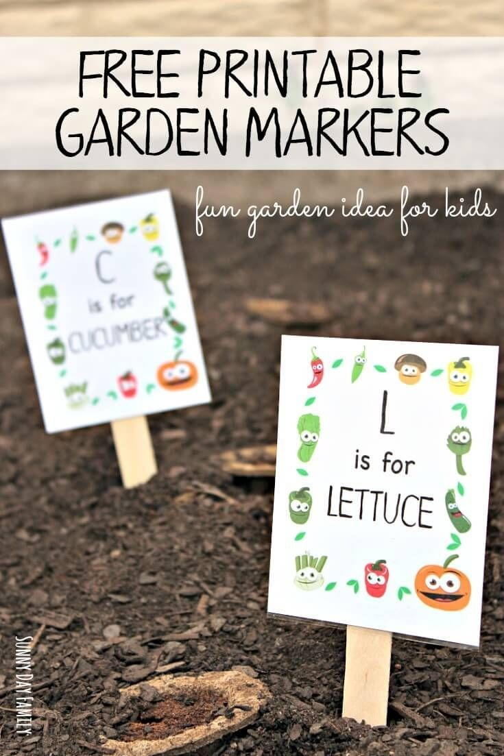 Free Printable Garden Markers Your Kids Will Love | Garden | Garden - Free Printable Plant Labels