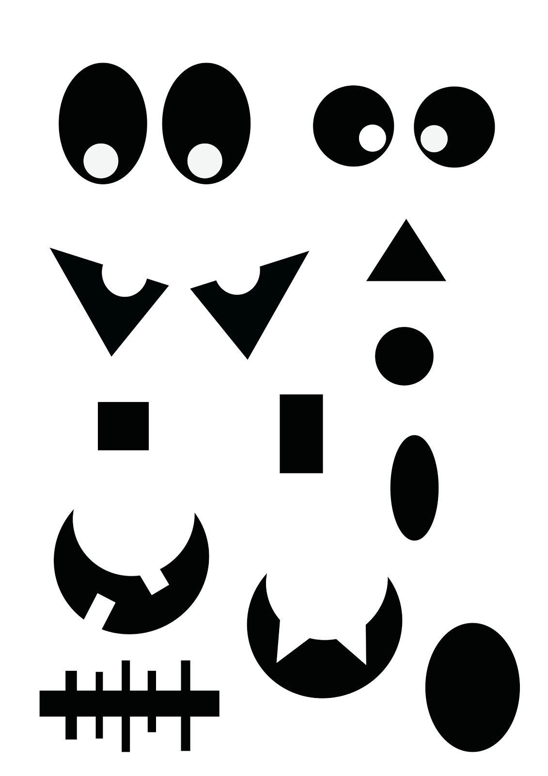 Free Printable Ghost Faces, Download Free Clip Art, Free Clip Art On - Free Printable Halloween Face Masks