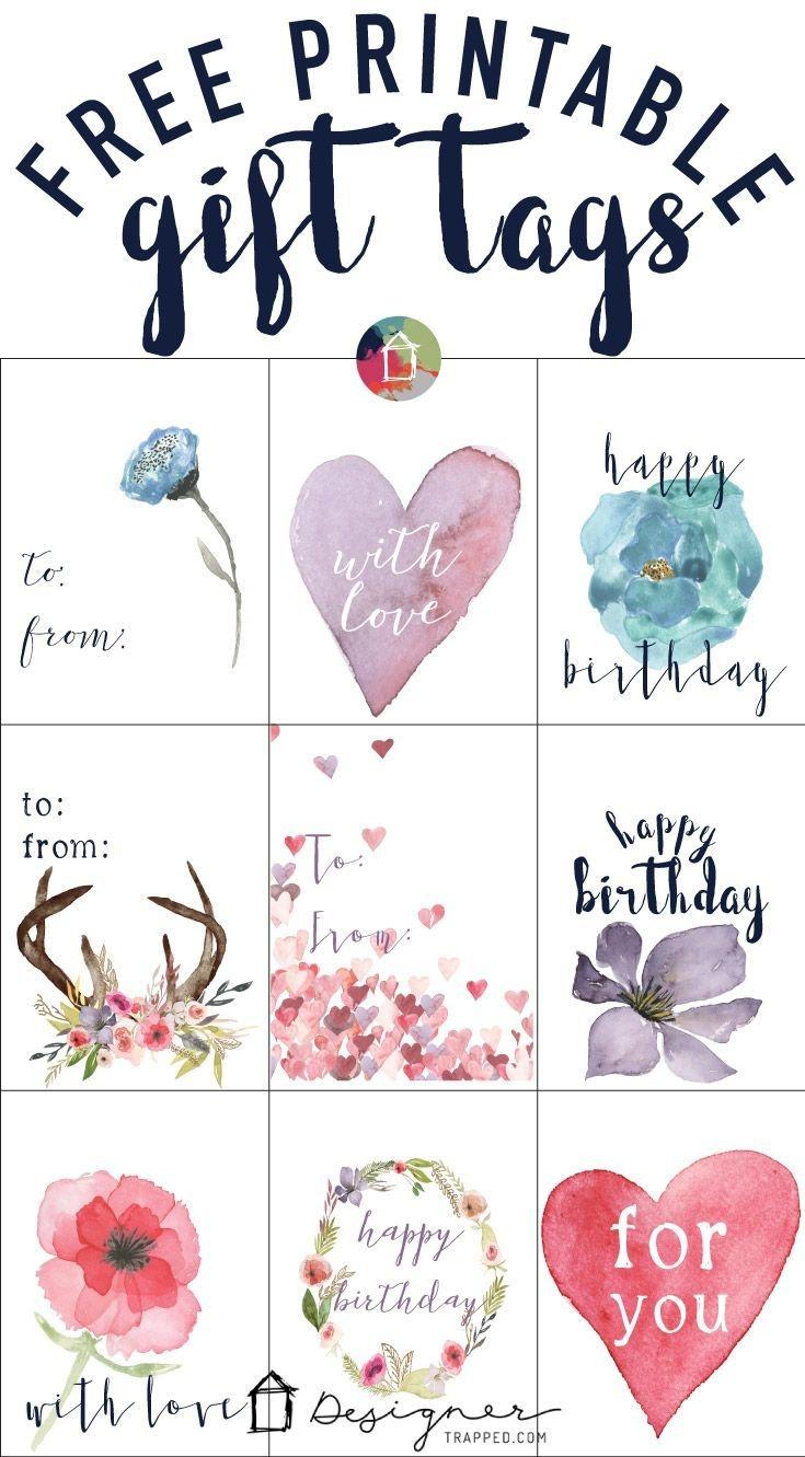 Free Printable Gift Tags For Birthdays | Pocket Scrapbooking | Free - Free Printable To From Gift Tags