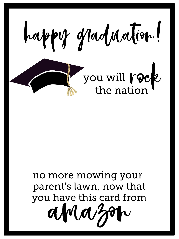 Free Printable Graduation Card - Paper Trail Design - Free Printable Graduation Cards