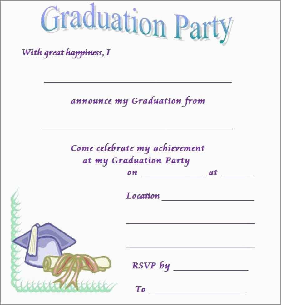Free Printable Graduation Invitation Templates Elegant 40 Free - Free Printable Graduation Invitations
