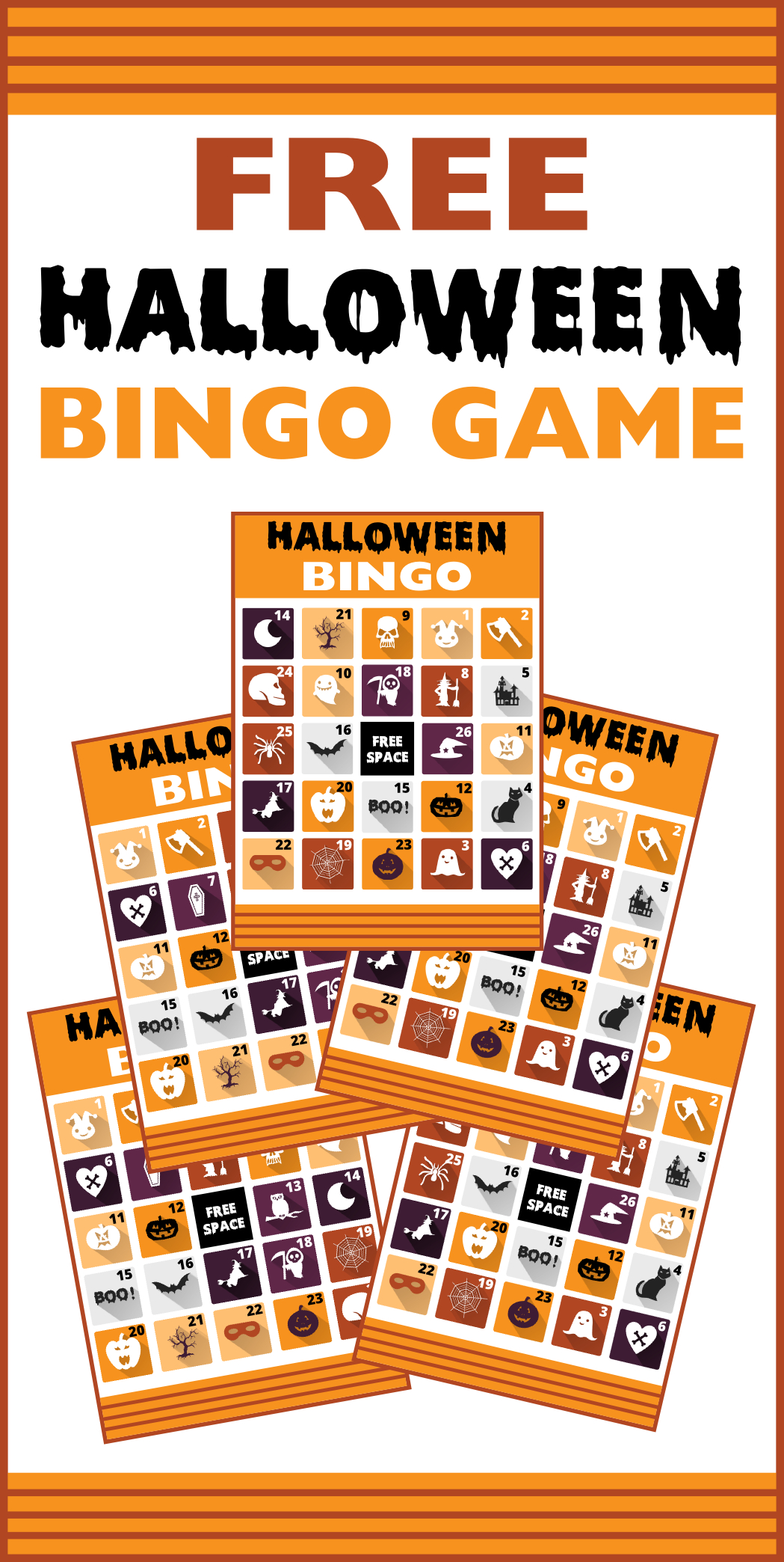 Free Printable Halloween Bingo Cards | Catch My Party - Free Printable Halloween Bingo