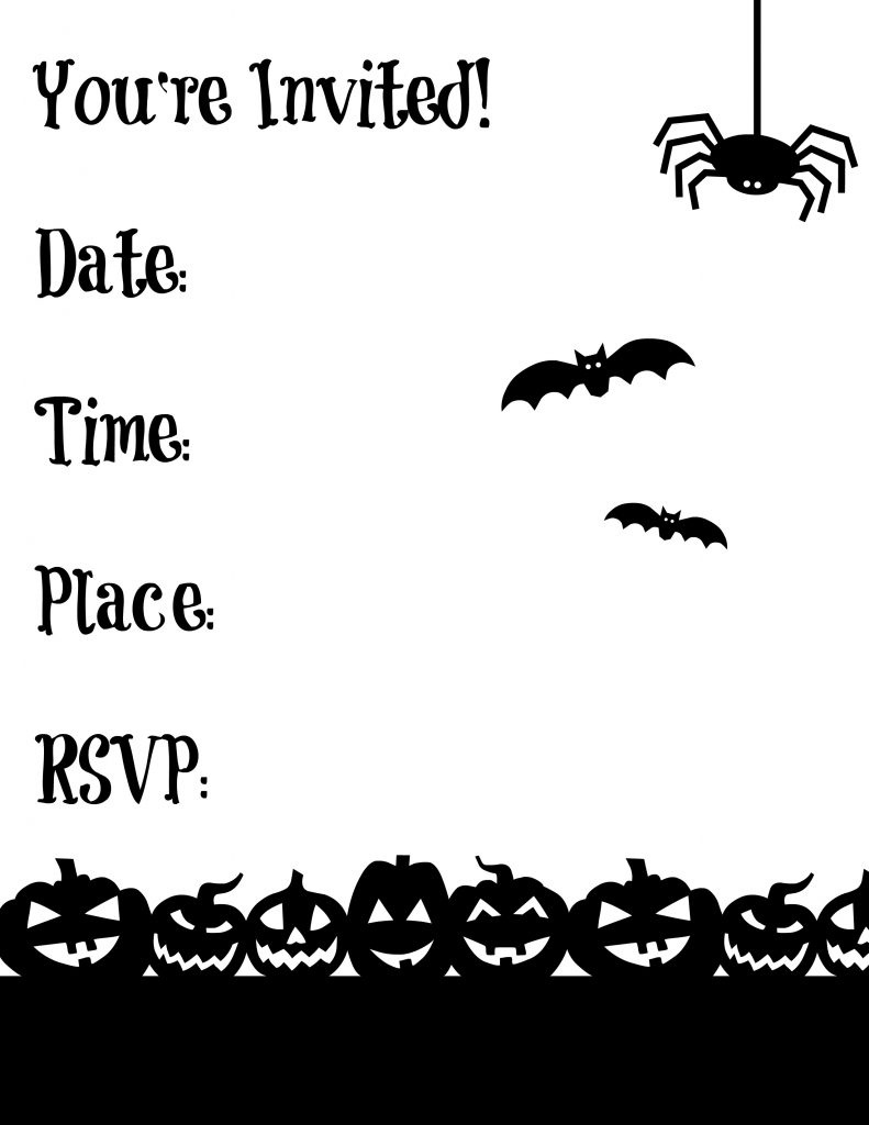 Free Printable Halloween Garland | Making Life Blissful - Halloween Invitations Free Printable Black And White
