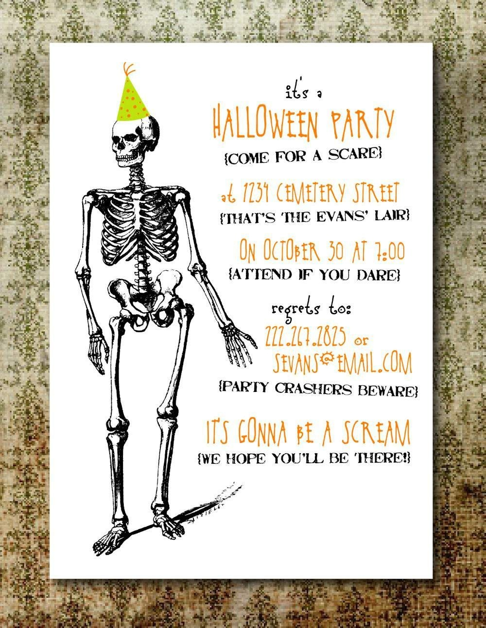 Free Printable Halloween Invitation Templates | Free Printable - Free Printable Halloween Invitations For Adults