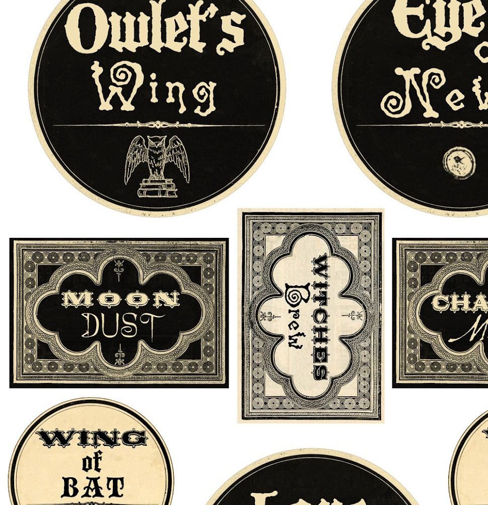 image regarding Free Printable Halloween Bottle Labels named Info Above Halloween Magic Steampunk Mini Bottle Labels