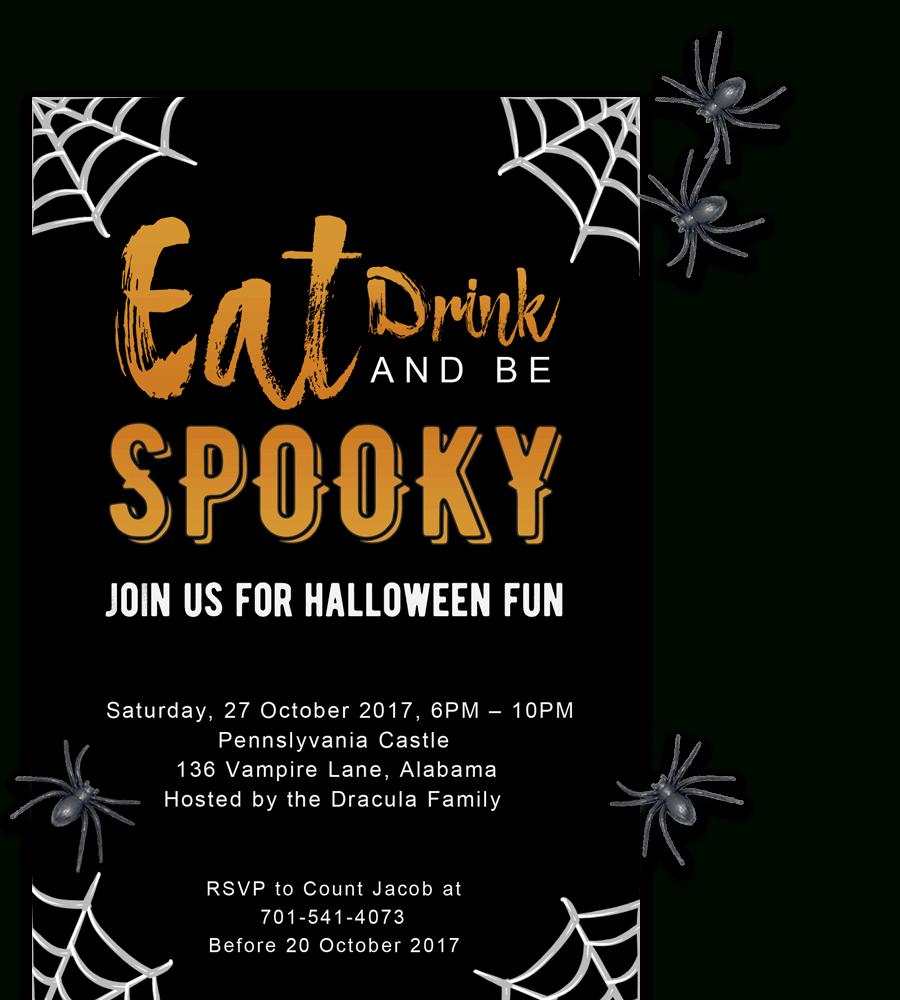 Free Printable Halloween Party Invitations 2018 ✅ [ Template] - Halloween Party Invitation Templates Free Printable