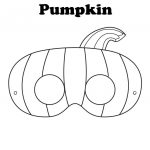 Free Printable Halloween Pumpkin Mask   Ready To Be Colored! | Mops   Free Printable Halloween Face Masks