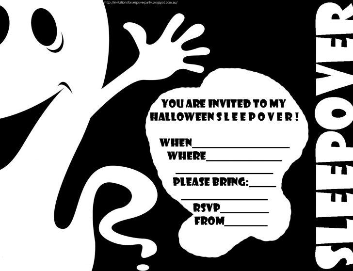 Halloween Invitations Free Printable Black And White