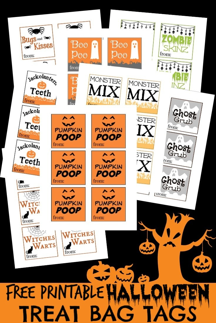 Free Printable Halloween Tags For Treat Bags - Free Printable Trick Or Treat Bags