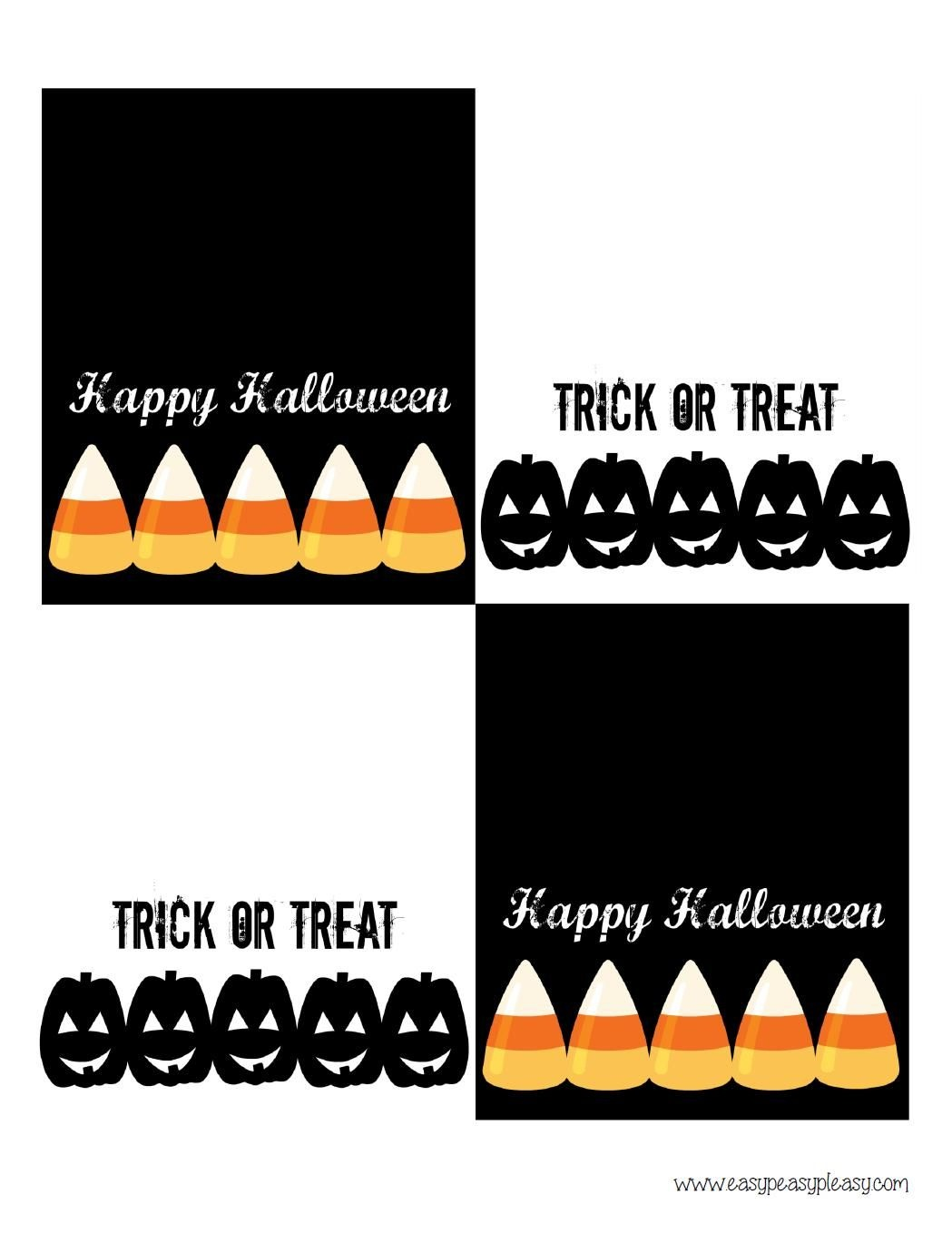 Free Printable Halloween Treat Bag Toppers | Halloween Printables 4 - Free Printable Trick Or Treat Bags