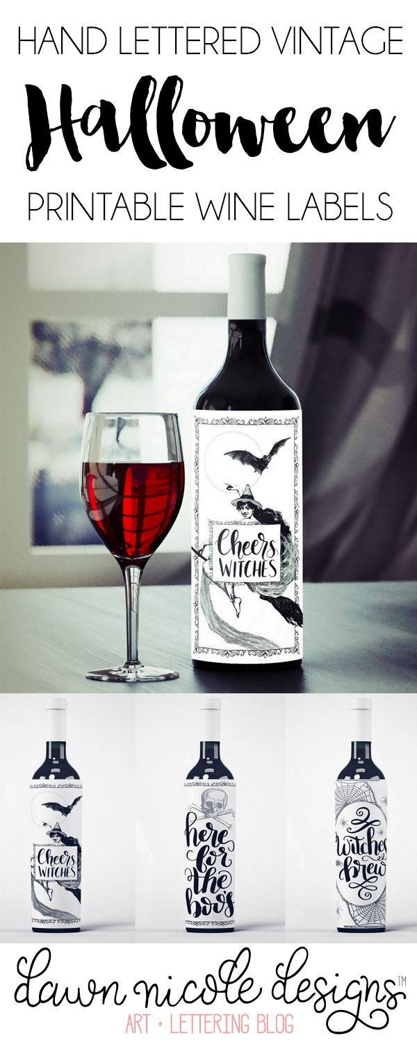 Free Printable Halloween Wine Bottle Labels | Ultimate Diy Board - Free Printable Wine Labels