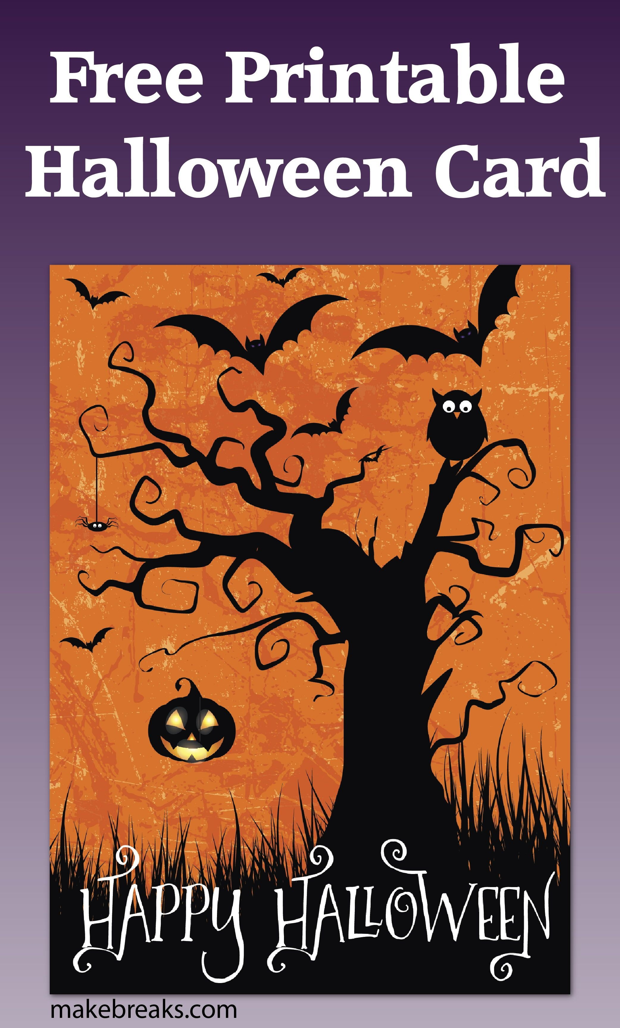 Free Printable Happy Halloween Card Or Party Invitation   Diy And - Free Printable Halloween Cards