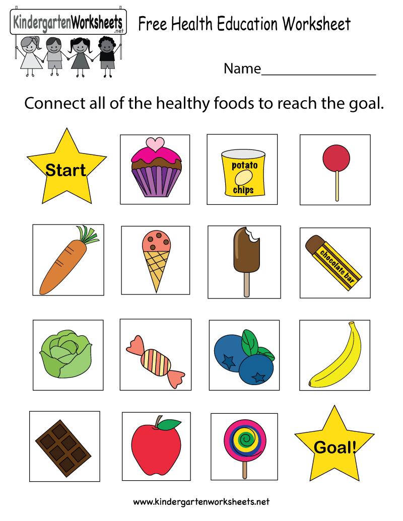 Free Printable Health Education Worksheet For Kindergarten - Free Printable Healthy Eating Worksheets