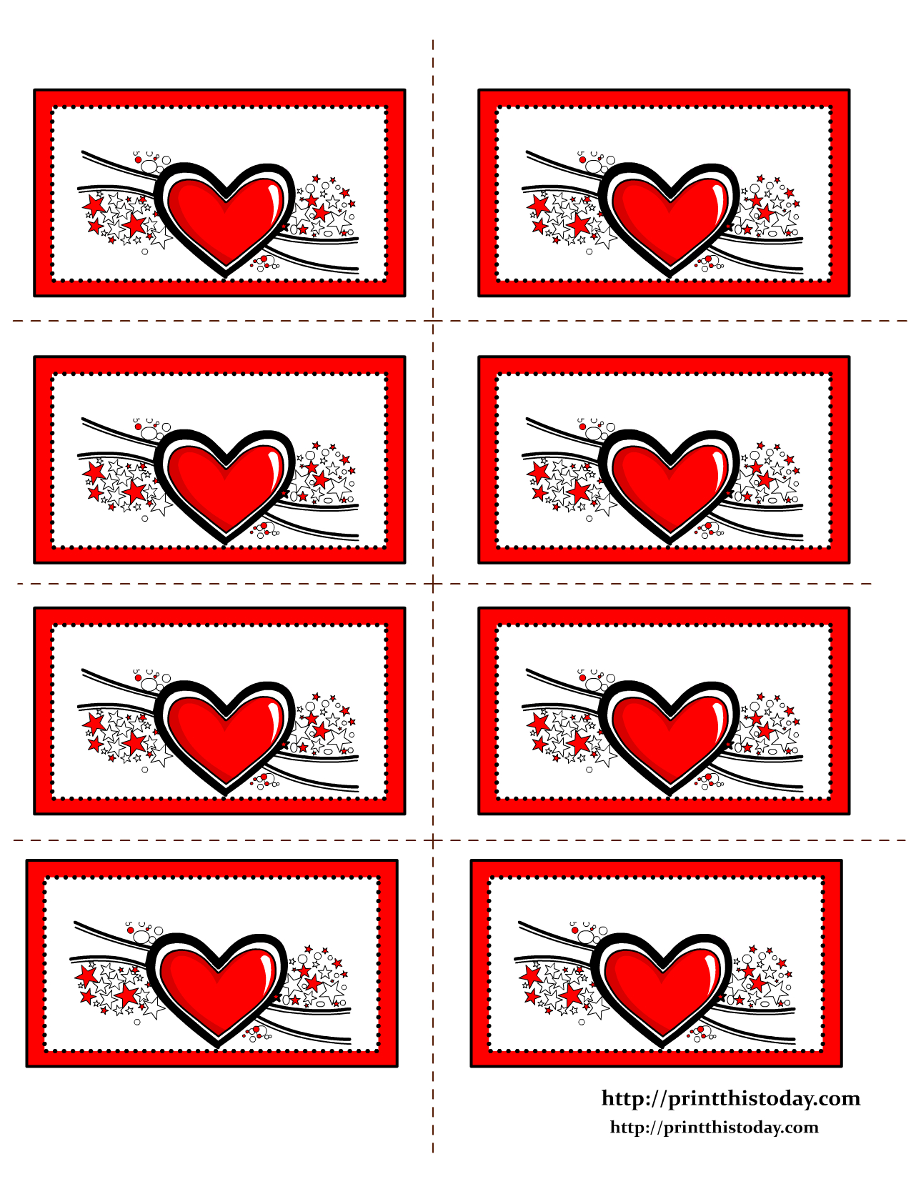 Free Printable Hearts Labels - Free Printable Heart Labels