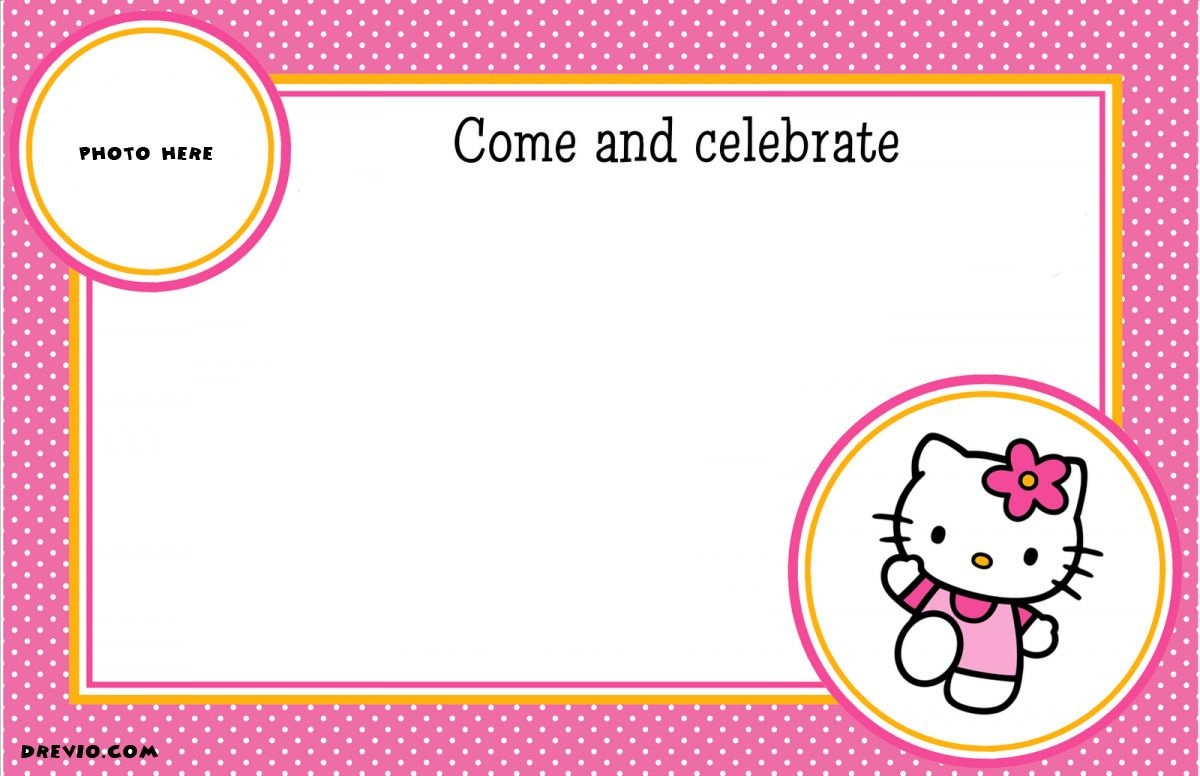 Free Printable Hello Kitty Birthday Party Invitations | Free - Hello Kitty Free Printable Invitations For Birthday