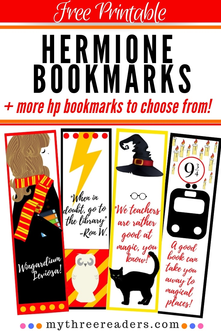 Free Printable Hermione Bookmarks For Your Hp Bookworm! - Free Printable Bookmarks For Libraries