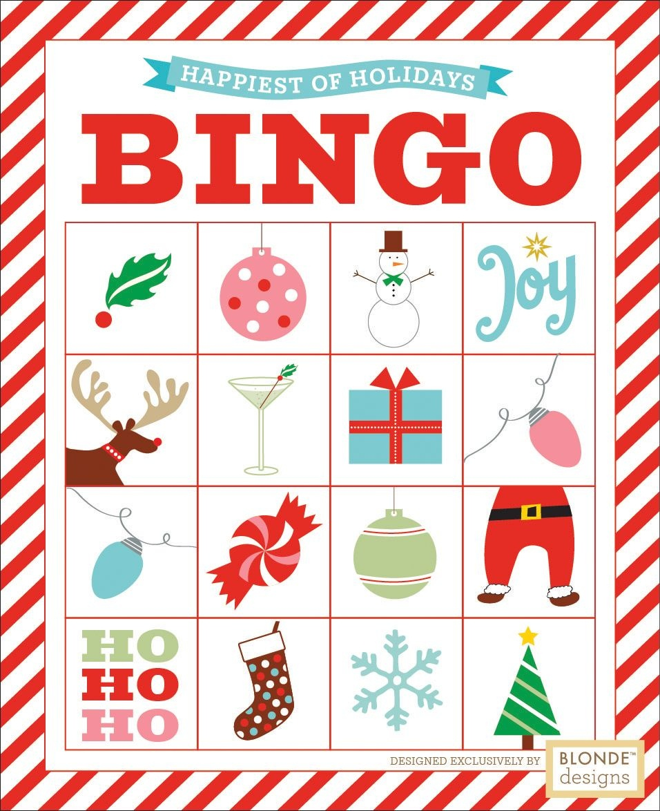 Free Printable: Holiday Bingo {Blonde Designs Blog} | Christmas - Free Printable Christmas Bingo