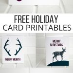 Free Printable Holiday Cards - Pretty Providence - Free Printable Happy Holidays Greeting Cards