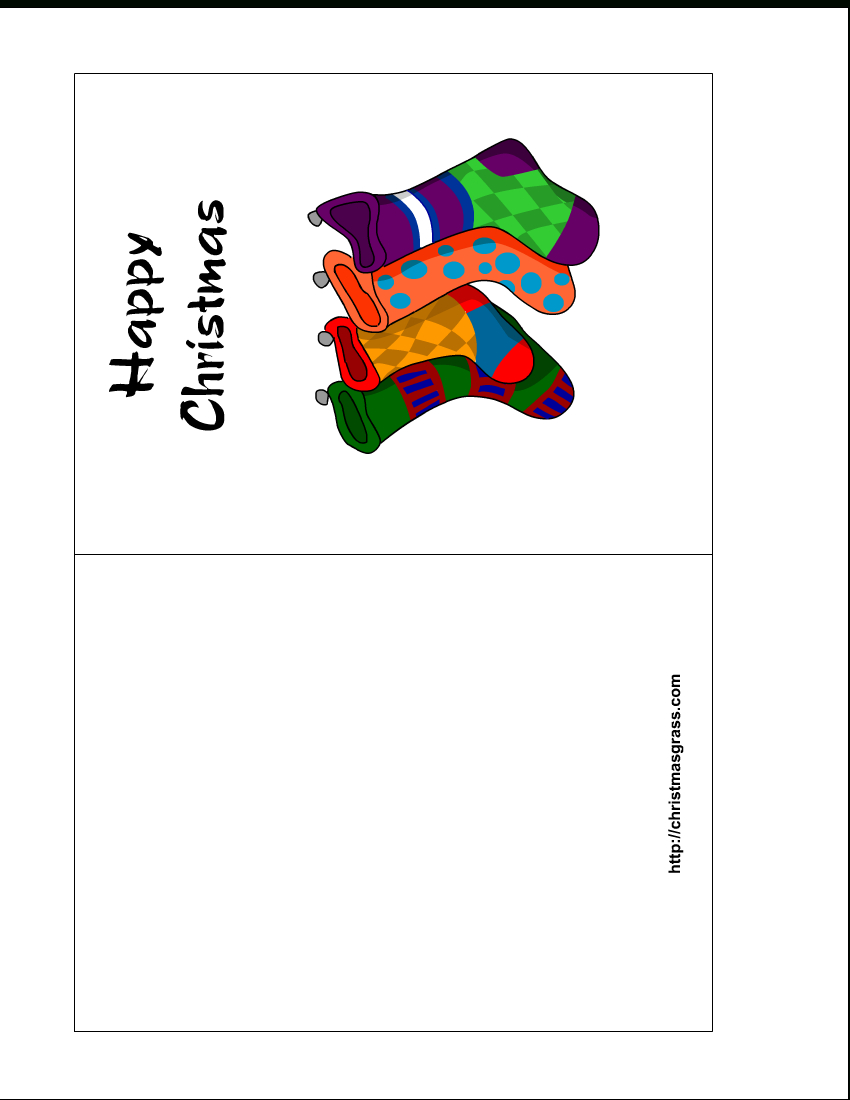 Free Printable Holiday Greeting Card With Stockings - Free Printable Happy Holidays Greeting Cards