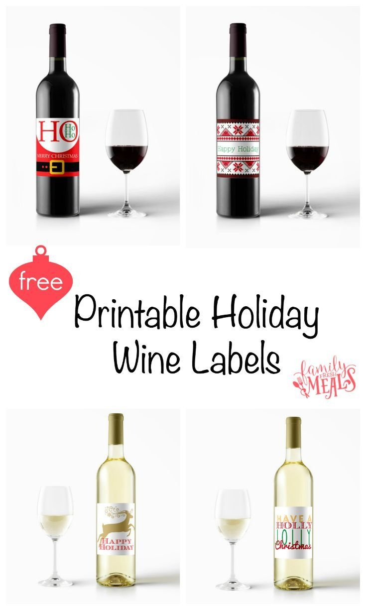 Free Printable Holiday Wine Labels | Printables | Christmas Wine - Free Printable Wine Labels With Photo