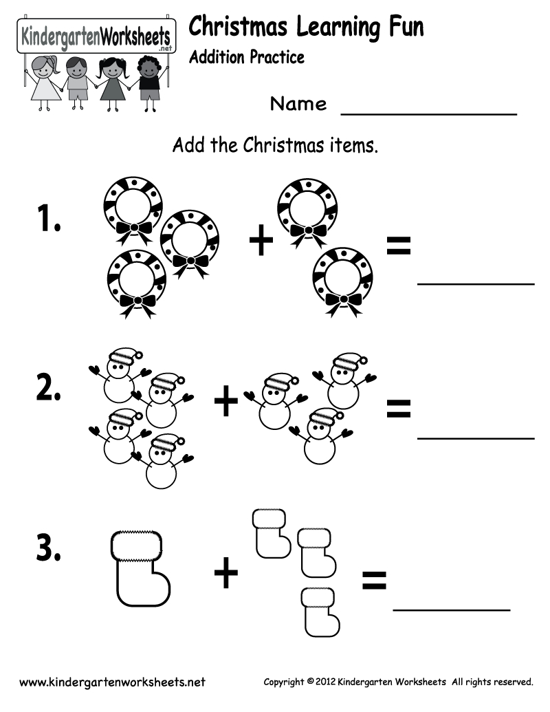 Free Printable Holiday Worksheets | Free Printable Kindergarten - Free Printable Kindergarten Math Activities